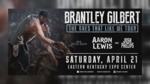 Hillbilly Days Festival Concert - Brantley Gilbert with special guests Aaron Lewis & Josh Phillips @ East Kentucky Expo Center   Pikeville   Kentucky   United States